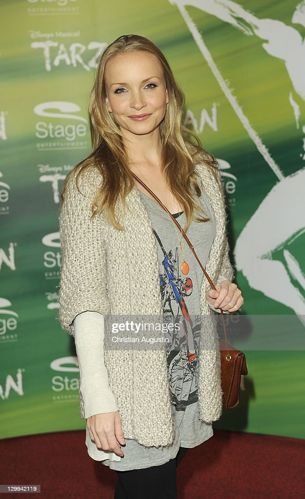 Janin Reinhardt attends Tarzan Musical 3rd anniversary at Theatre 'Neue Flora' on October 22, 2011 in Hamburg, Germany.