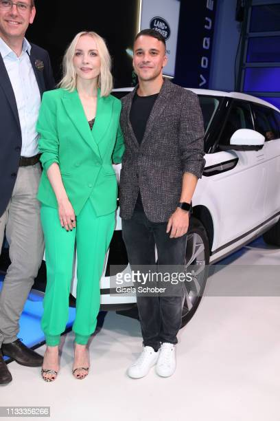 Janin Ullmann and Kostja Ullmann during the presentation of the new Range Rover Evoque at Berlin Bridge Studios on March 28 2019 in Berlin Germany