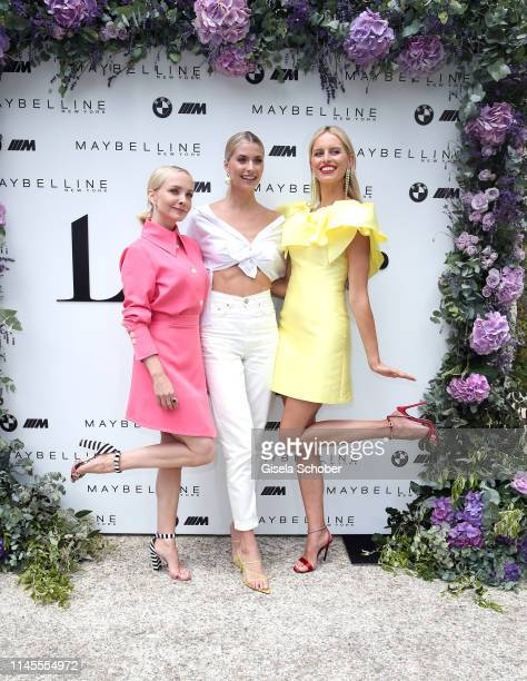 Janin Ullmann and Lena Gercke and Karolina Kurkova during the photocall for the LeGer by Lena_Gercke x About You spring/summer collection THE COTE...