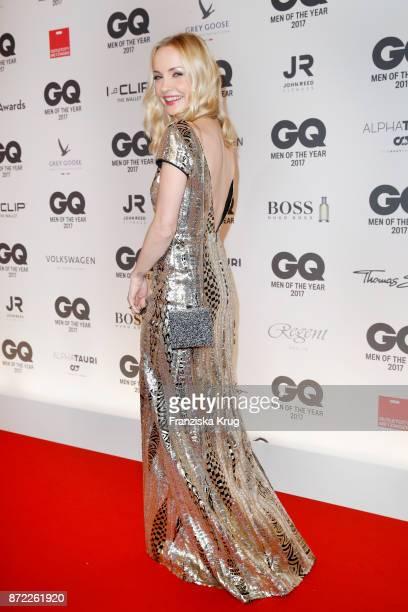 Janin Ullmann arrives for the GQ Men of the year Award 2017 at Komische Oper on November 9 2017 in Berlin Germany