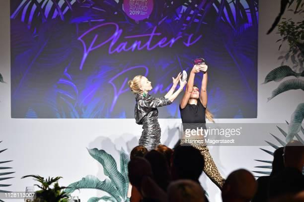 Janin Ullmann at the Glammy Award on February 07, 2019 in Munich, Germany.