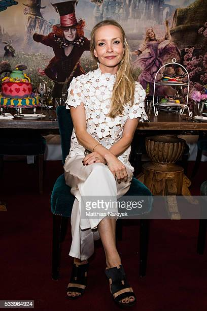 Janin Reinhardt attends the 'Alice im Wunderland Hinter den Spiegeln' Berlin screening and presentation of the Kaviar Gauche Capsule Collection at...
