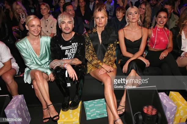Janin Ullmann, Bill Kaulitz, Karolina Kurkova, Lena Gercke and Fernanda Brandao attend the opening show of the AYFW - About You Fashion Week at ewerk...