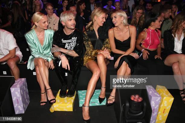 Janin Ullmann, Bill Kaulitz, Karolina Kurkova, Lena Gercke, Fernanda Brandao attend the opening show of the AYFW - About You Fashion Week at ewerk on...