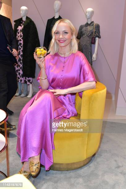 Janin Ullmann during the opening of the new Kate Spade New York boutique store on April 16 2019 in Munich Germany This store marks Kate Spade New...