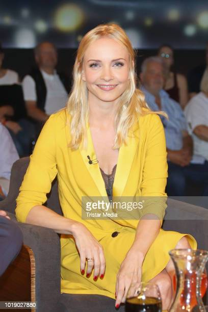 Janin Ullmann during the 'Tietjen und Bommes' TV show on August 17 2018 in Hanover Germany