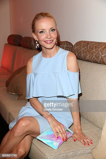 Janin Ullmann former Reinhardt wearing jewelry by Cadenzza during the 'Casha for Cadenzza' jewelry collection launch event at restaurant 'Pageou' on...