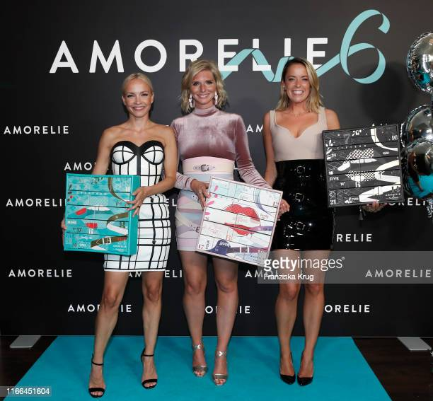 Janin Ullmann LeaSophie Cramer and Marina Hoermanseder during the 6th anniversary celebration of Amorelie at Humboldt Carre on September 6 2019 in...