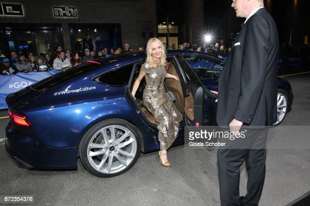 Janin Ullmann leaves the VW car during the GQ Men of the year Award 2017 at Komische Oper on November 9 2017 in Berlin Germany