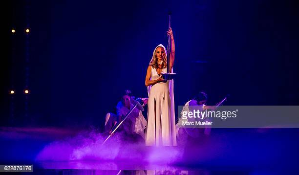 Janin Ullmann performs during the first live show of 'Deutschland tanzt' on November 12 2016 in Munich Germany In the first show 16 celebrities...
