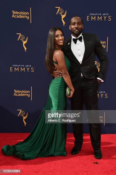 Janina and DeStorm Powe attend the 2018 Creative Arts Emmy Awards at Microsoft Theater on September 8 2018 in Los Angeles California