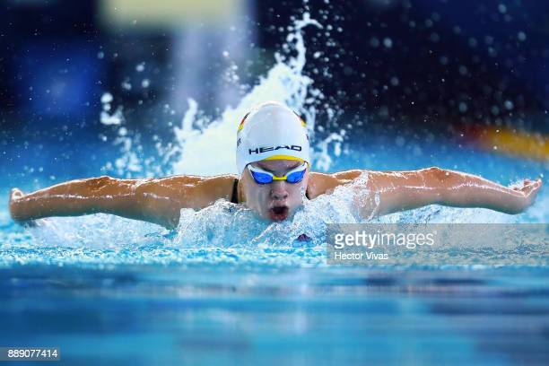 Janina Breuer of Germany competes in Women's 100 m Butterfly S14 during day 6 of the Para Swimming World Championship Mexico City 2017 at Francisco...