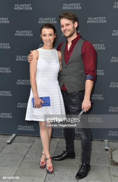 Janina Fautz and Philip Birnstiel attends the premiere of the movie 'Safarie Match me if you can' as part of the Munich Film Festival 2018 at...