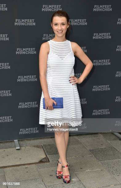 Janina Fautz attends the premiere of the movie 'Safarie Match me if you can' as part of the Munich Film Festival 2018 at Filmtheater Sendlinger Tor...