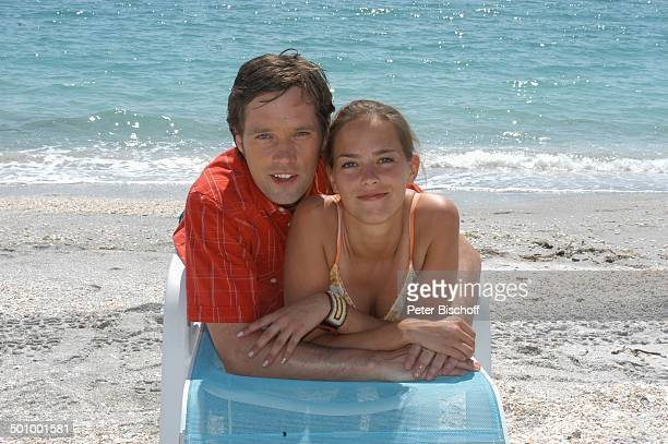 Janina Flieger Matthias Schloo am Rande der Dreharbeiten zum ZDFFilm FloridaTräume Fort Myers USA Amerika PNr 1075/2005 Schauspieler Schauspielerin...