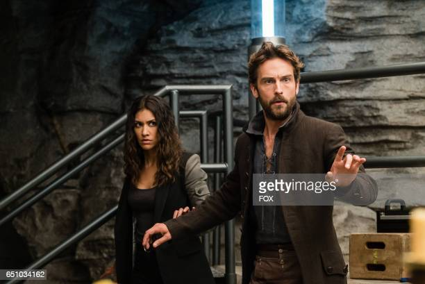 Janina Gavankar and Tom Mison in the Blood From A Stone episode of SLEEPY HOLLOW airing Friday Feb 3 on FOX