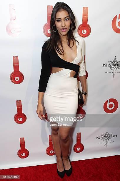 Janina Gavankar arrives at the Beats By Dr Dre Lil Wayne VMA AfterParty at Playhouse Hollywood on September 6 2012 in Los Angeles California
