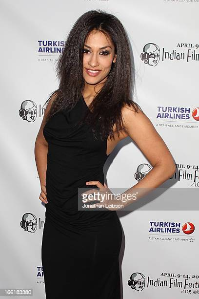 Janina Gavankar attends the 11th annual Indian Film Festival of Los Angeles Opening Night Gala for Gangs Of Wasseypur at ArcLight Hollywood on April...
