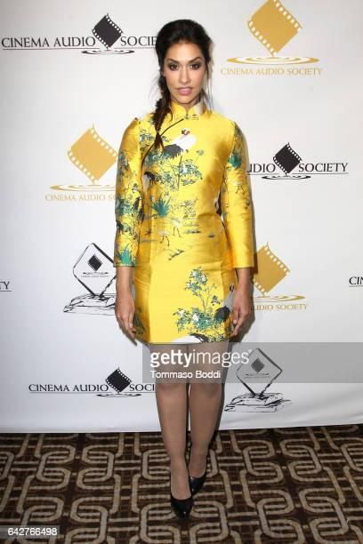 Janina Gavankar attends the 53rd Annual Cinema Audio Society Awards held at Omni Los Angeles Hotel at California Plaza on February 18 2017 in Los...