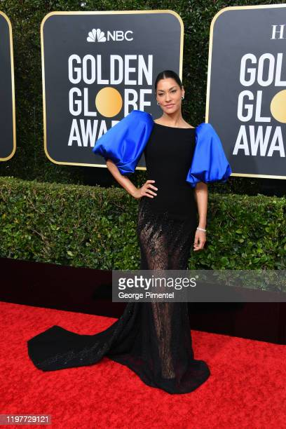 Janina Gavankar attends the 77th Annual Golden Globe Awards at The Beverly Hilton Hotel on January 05 2020 in Beverly Hills California