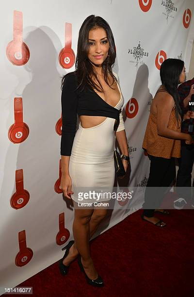 Janina Gavankar attends the Beats by Dr Dre celebration for the launch of the Lil Wayne Edition Pro headphones at Playhouse Nightclub in Hollywood on...