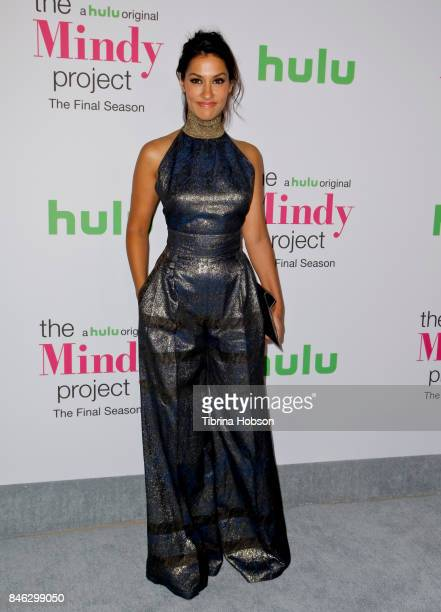 Janina Gavankar attends 'The Mindy Project' final season premiere party at The London West Hollywood on September 12 2017 in West Hollywood California