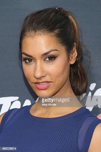 Janina Gavankar attends the premiere of Awesomeness TV's Janoskians Untold and Untrue at Regency Bruin Theatre on August 25 2015 in Los Angeles...