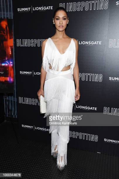 Janina Gavankar attends the screening of Blindspotting hosted by Lionsgate at Angelika Film Center on July 16 2018 in New York City