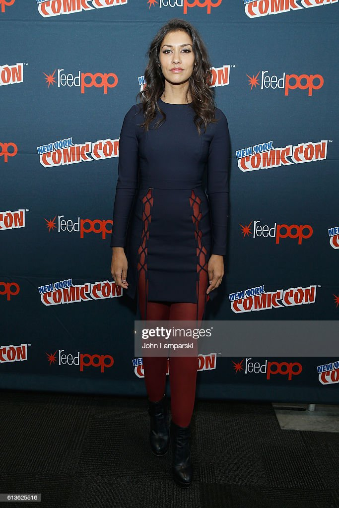 Janina Gavankar attends the Sleepy Hollow Press Room during 2016 New York Comic Con at The Javits Center on October 9, 2016 in New York City.