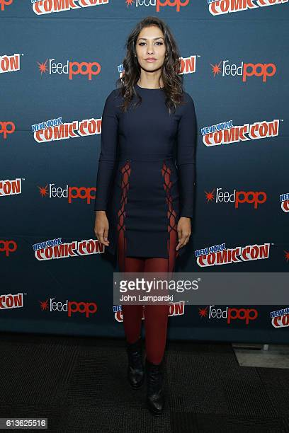 Janina Gavankar attends the Sleepy Hollow Press Room during 2016 New York Comic Con at The Javits Center on October 9 2016 in New York City