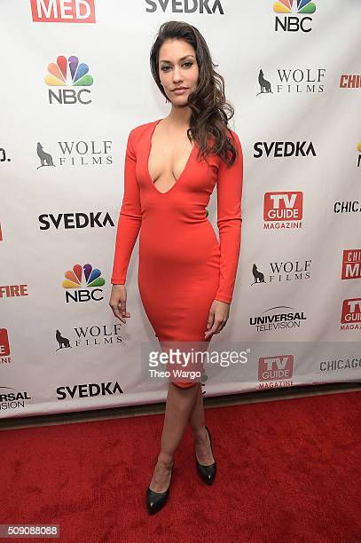 Janina Gavankar attends the TV Guide Magazine Celebrates Dick Wolf's Chicago Series at LeGrande Lounge at The Time New York Hotel on February 8 2016...