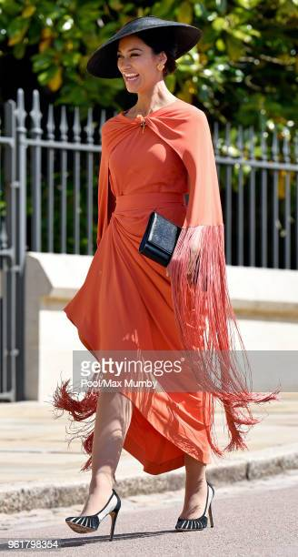 Janina Gavankar attends the wedding of Prince Harry to Ms Meghan Markle at St George's Chapel Windsor Castle on May 19 2018 in Windsor England Prince...