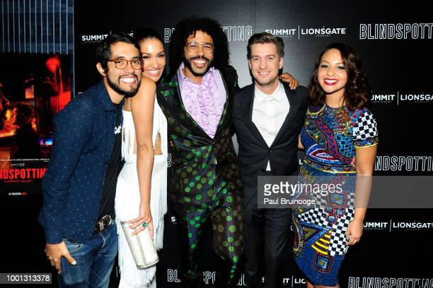 Janina Gavankar Daveed Diggs Rafael Casal and Jasmine Cephas Jones attend as Lionsgate with the Cinema Society host a screening of Blindspotting at...