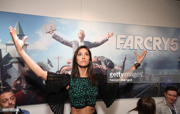 Janina Gavankar during E3 2017 at Los Angeles Convention Center on June 13 2017 in Los Angeles California