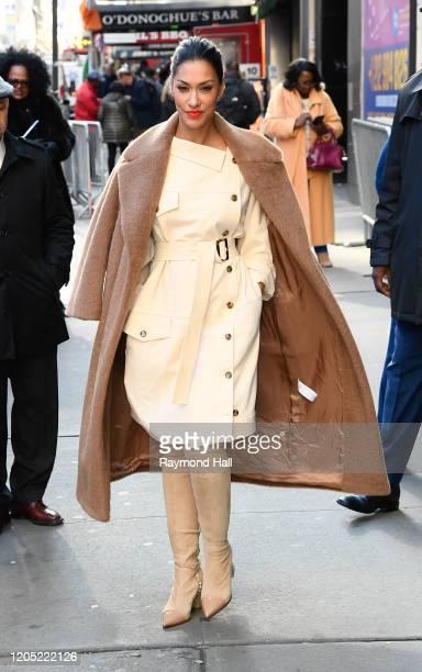"Janina Gavankar is seen outside ""Good Morning America"" on March 4, 2020 in New York City."