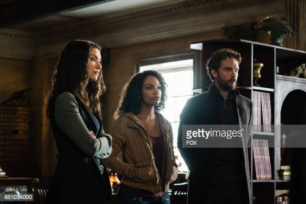 Janina Gavankar Lyndie Greenwood and Tom Mison in the Blood From A Stone episode of SLEEPY HOLLOW airing Friday Feb 3 on FOX