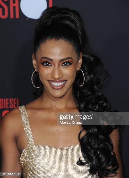 Janina Gordillo arrives for the Premiere Of Sony Pictures' Bloodshot held at The Regency Village on March 10 2020 in Los Angeles California