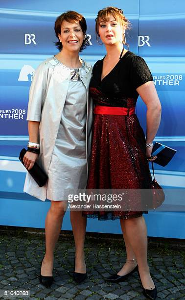 Janina Hartwig and daughter Amelie arrive for the Bavarian Television Award 2008 at the Prinzregenten Theatre on 9 May 2009 in Munich Germany