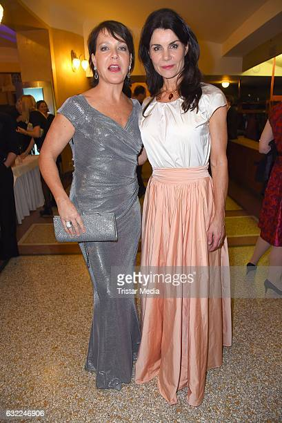 Janina Hartwig and Nicola Tiggeler attend the Bayerischer Filmpreis 2017 at Prinzregententheater on January 20 2017 in Munich Germany