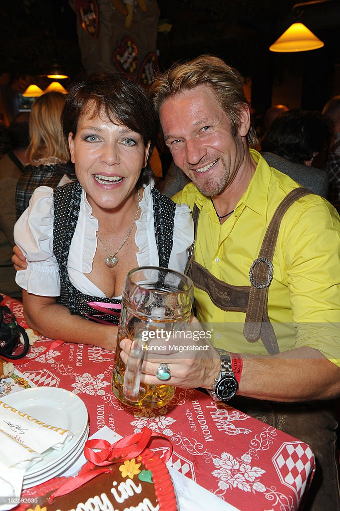 Janina Hartwig and Thure Riefenstein attend the Oktoberfest beer festival at Hippodrom on September 22, 2012 in Munich, Germany.