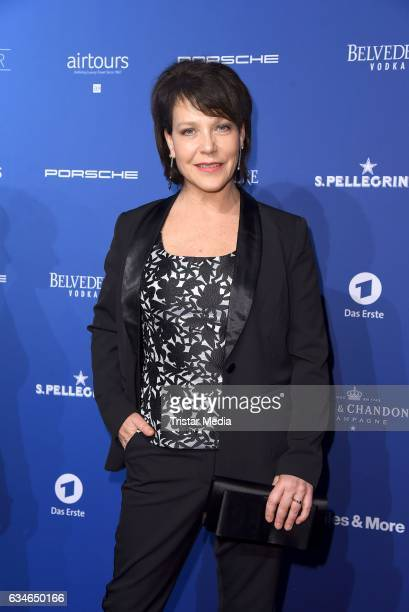 Janina Hartwig attends the Blue Hour Reception hosted by ARD during the 67th Berlinale International Film Festival Berlin on February 10 2017 in...