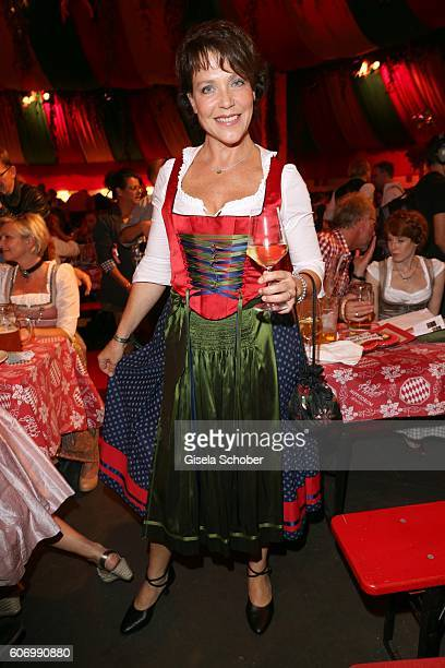 Janina Hartwig during the Birgitt Wolff's PreWiesn party ahead of the Oktoberfest at Hippodrom in Postpalast on September 16 2016 in Munich Germany