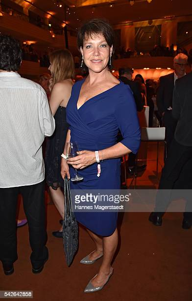 Janina Hartwig during the opening night of the Munich Film Festival 2016 at Hotel Bayerischer Hof on June 23 2016 in Munich Germany