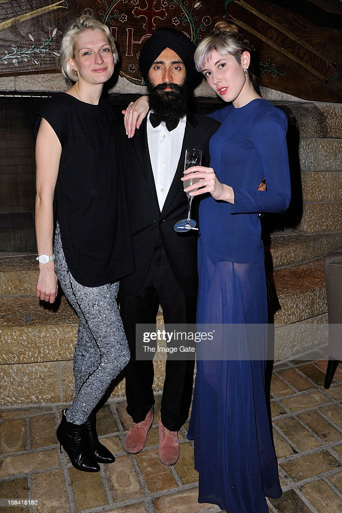 Janina Joffe, Waris Ahluwalia and Paula Goldstein attend the ASMALLWORLD Gala Dinner for Alzheimer Society at the Gstaad Palace Hotel on December 15, 2012 in Gstaad, Switzerland.