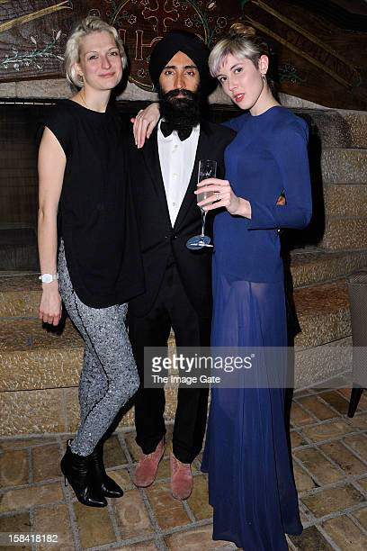 Janina Joffe Waris Ahluwalia and Paula Goldstein attend the ASMALLWORLD Gala Dinner for Alzheimer Society at the Gstaad Palace Hotel on December 15...