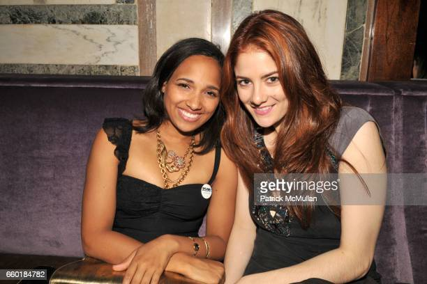 Janina Kreider and Emily Tremaine attend UNICEF's Next Generation Launch Event at The Gates on July 23 2009 in New York City