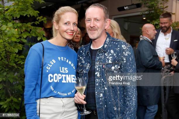 Janina Krinke and Ole Mlodzian attend the 'Krug Kiosk' Event on July 11 2017 in Hamburg Germany
