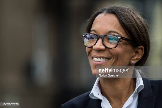 Janina Kugel Member of the Board of Siemens is pictured on October 15 2018 in Goerlitz Germany