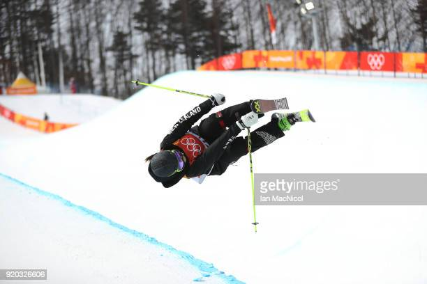 Janina Kuzma of New Zealand competes during the Freestyle Skiing Ladies' Ski Halfpipe Qualification on day 10 of the PyeongChang 2018 Winter Olympic...