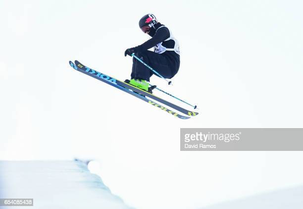 Janina Kuzma of New Zealand competes in the Women's halfpipe qualification round on day 9 of the FIS Freestyle Ski Snowboard World Championships 2017...